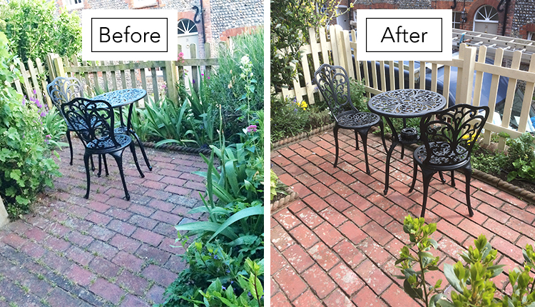 Daisy Garden shown Before & After renovations