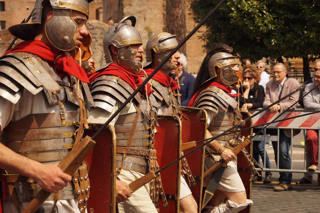 Men in Roman Costumes As part of Chichester's Roman week