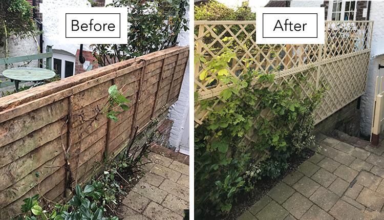 Rose Cottage in Arundel Garden Fence Makeover