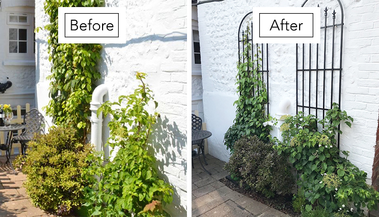 Rose Cottage in Arundel Garden Wall Makeover